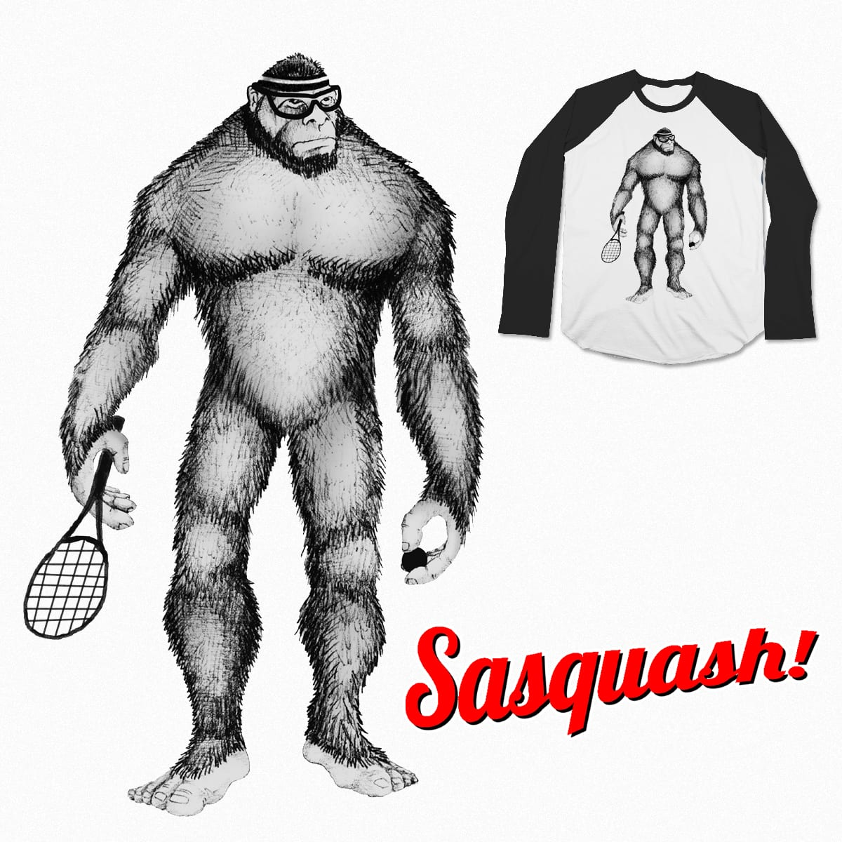 Sasquash! by mattographer on Threadless