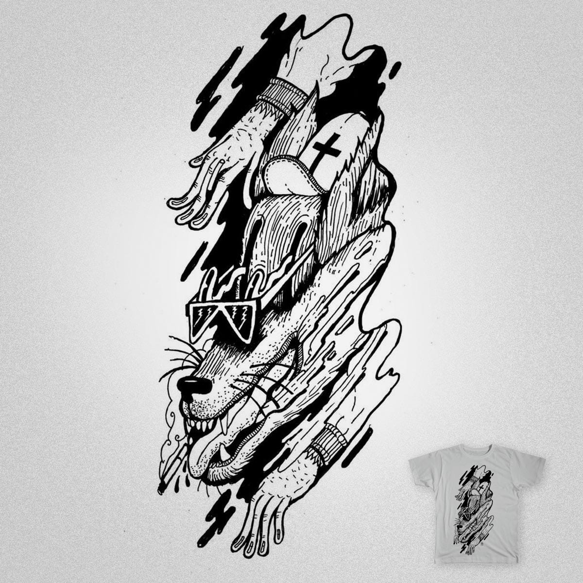 i got a wolf inside by adriansantanacruz on Threadless