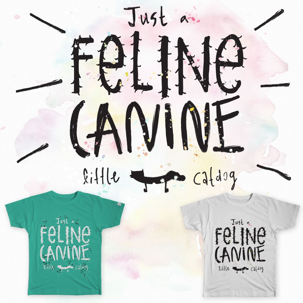 Just a Feline Canine  by Fatti-Burke on Threadless