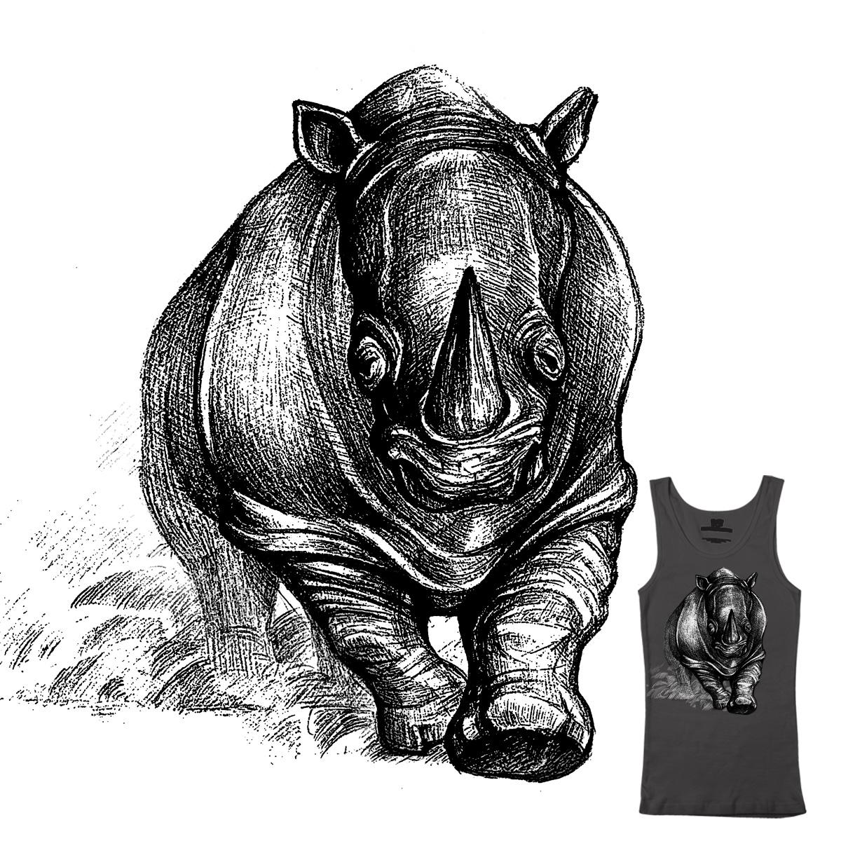 Rhino by newscale on Threadless