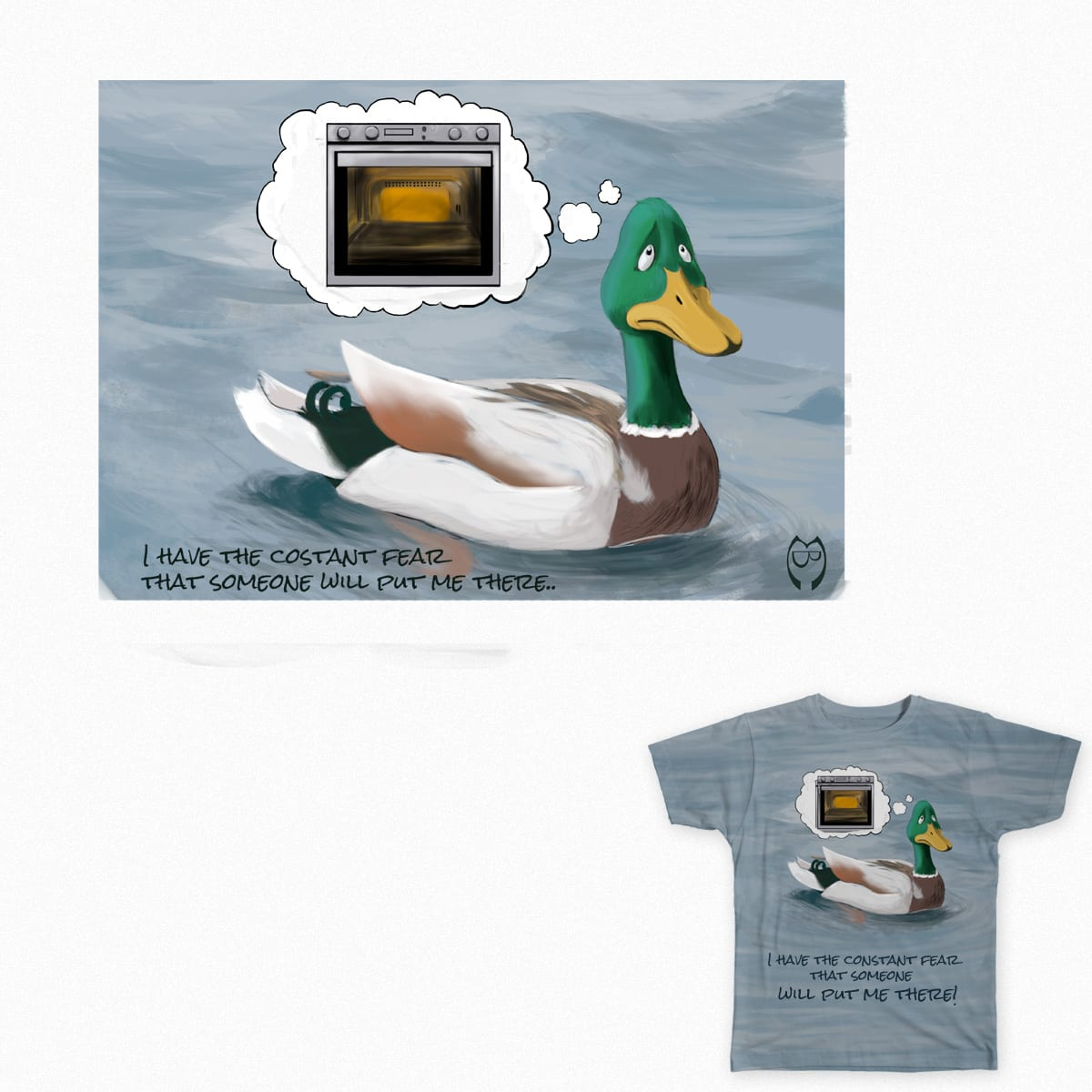Fear of the Duck by Massimiliano_Bruno on Threadless