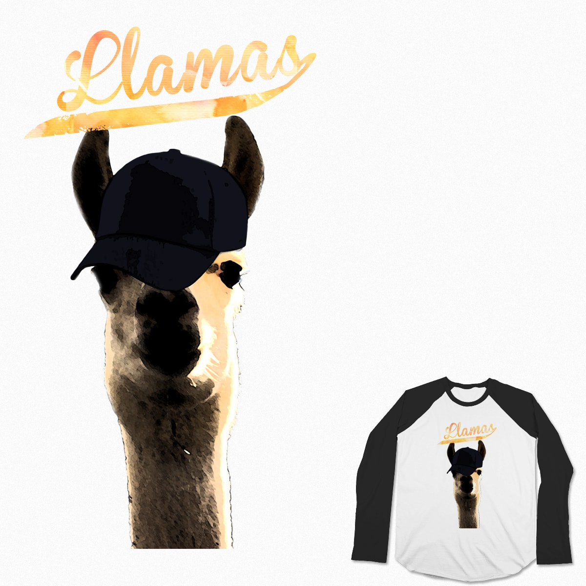 Llamas Team by olgasrandomness on Threadless