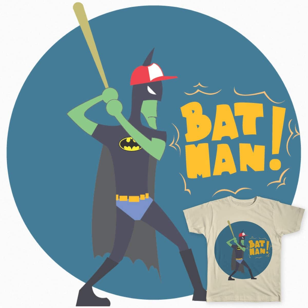 Bat-man by KevinGoreeba on Threadless