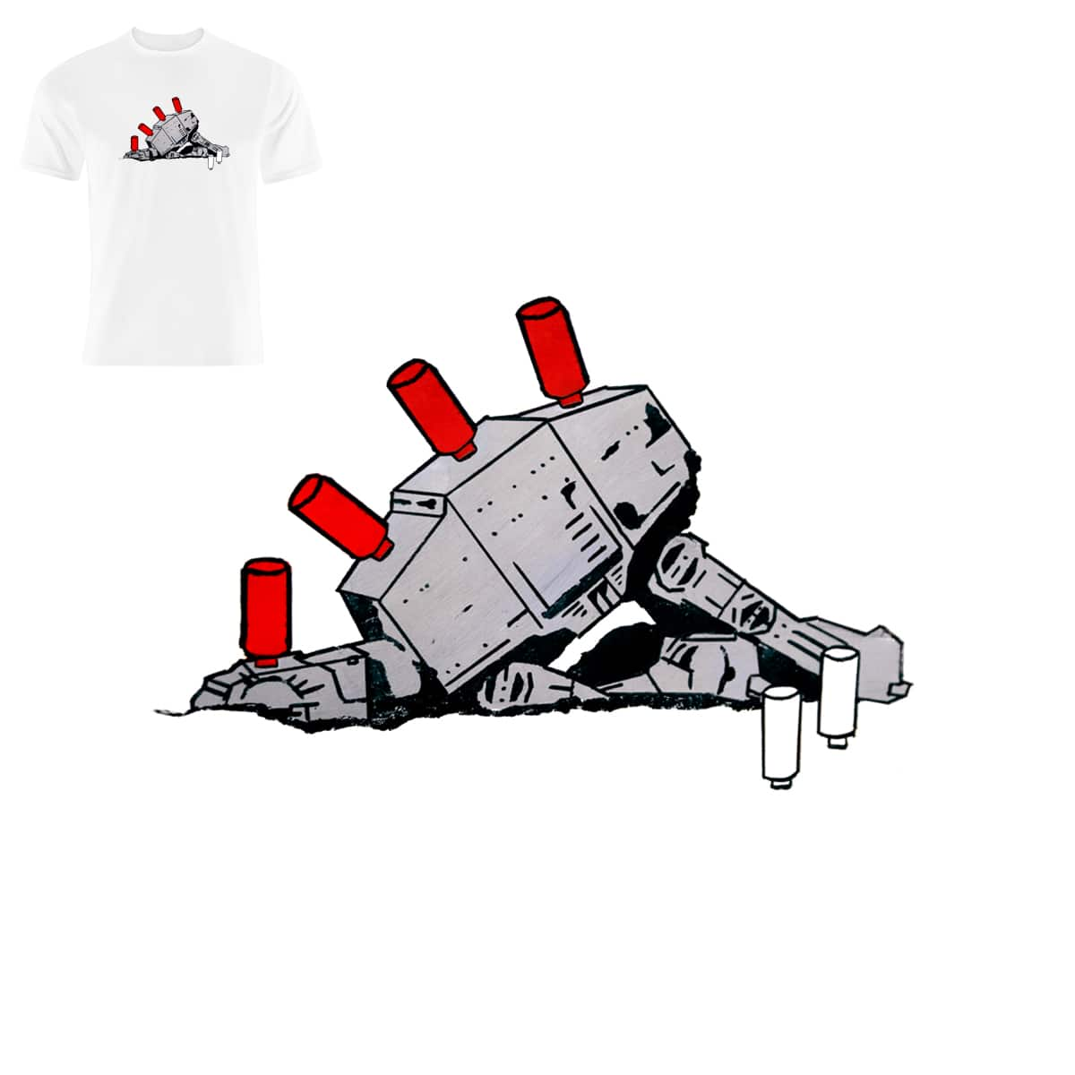 You Sunk My Imperial Walker! by Neematoad and CHAMPAKALI on Threadless
