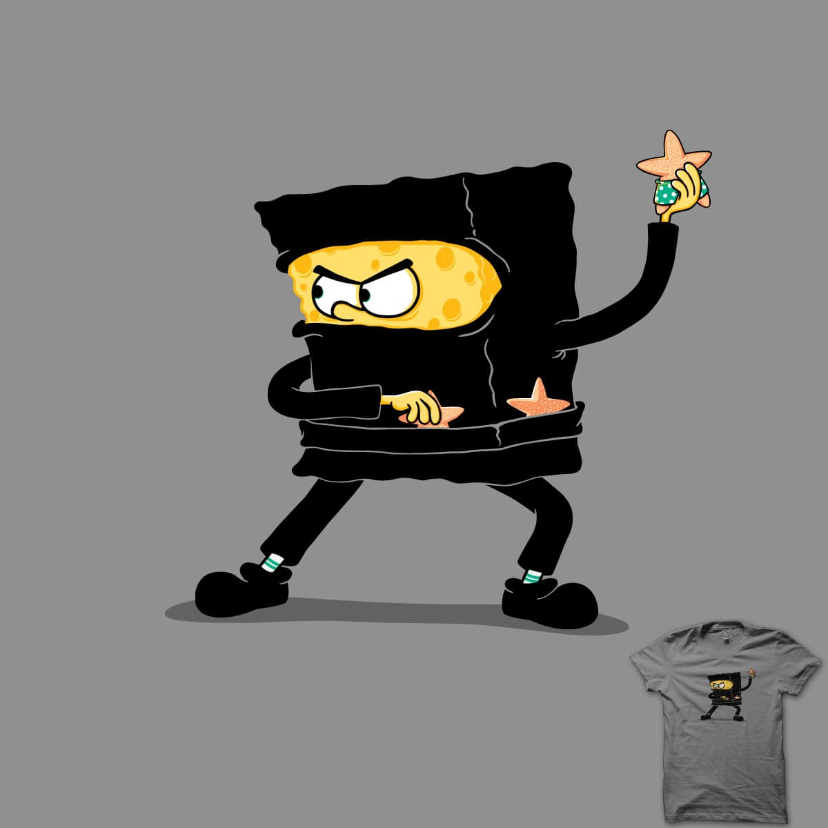 Square Ninja by triagus on Threadless