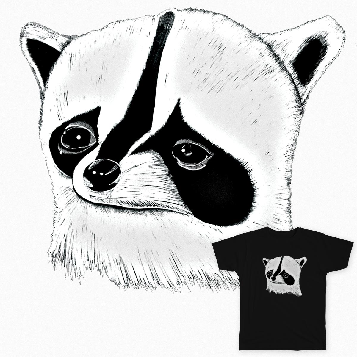 Sad Raccoon by imaginaryeye on Threadless