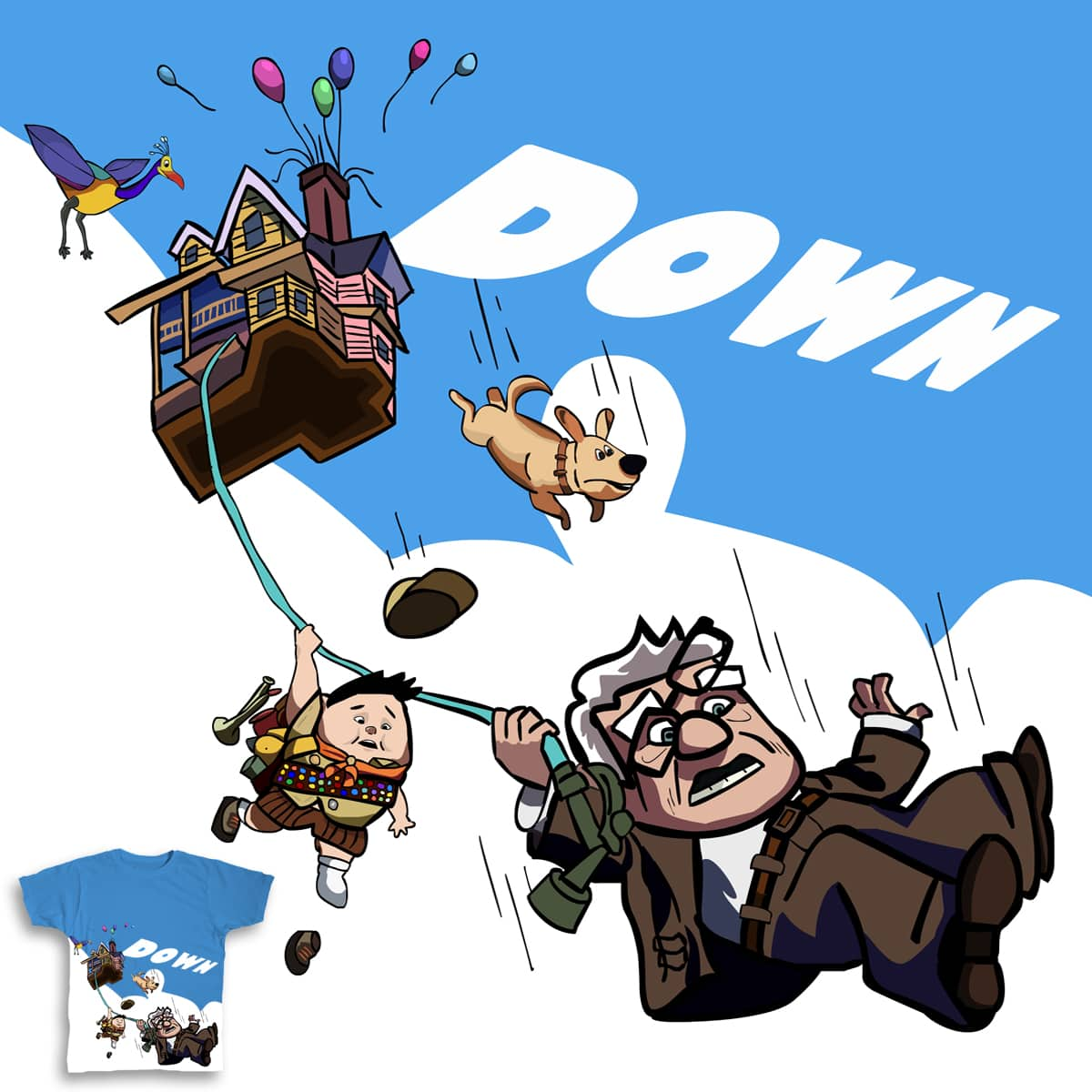 DOWN by BeaverPancakes on Threadless