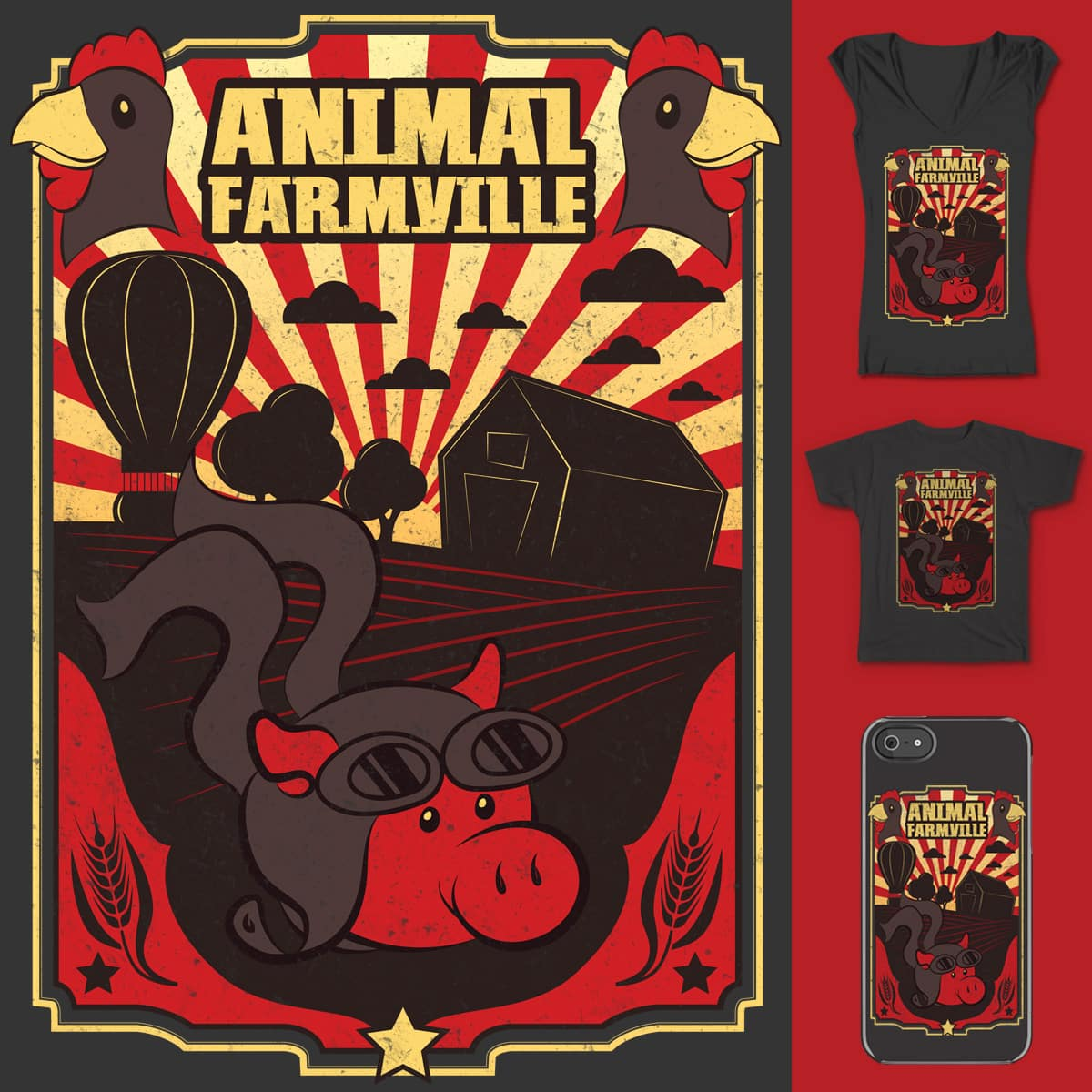 Animal Farmville by BeanePod and nintechno on Threadless
