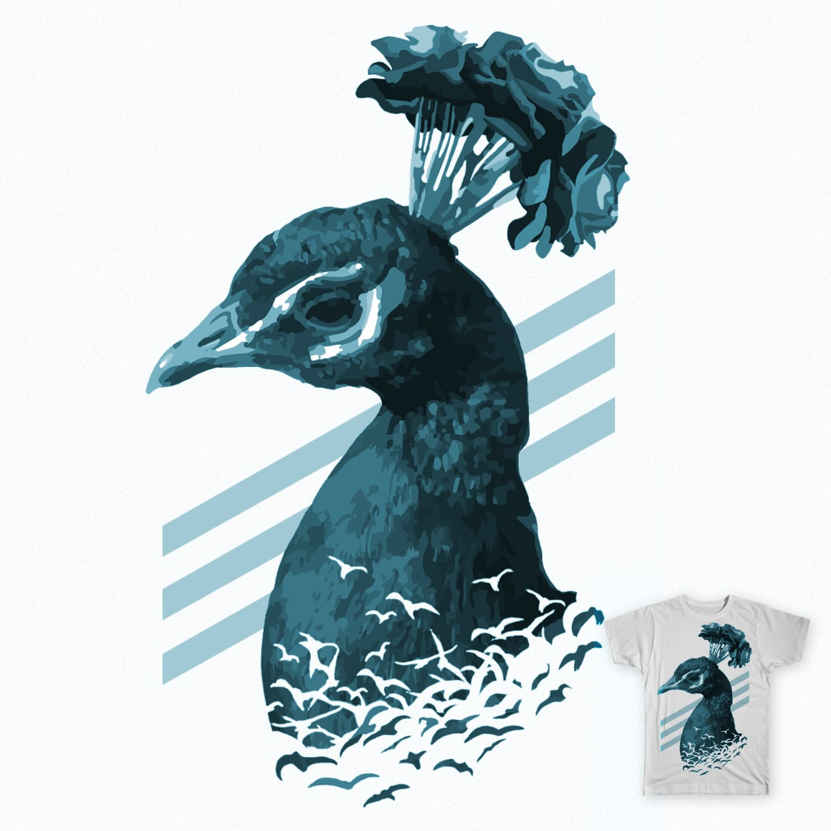 Bird Bouquet by nippyer on Threadless