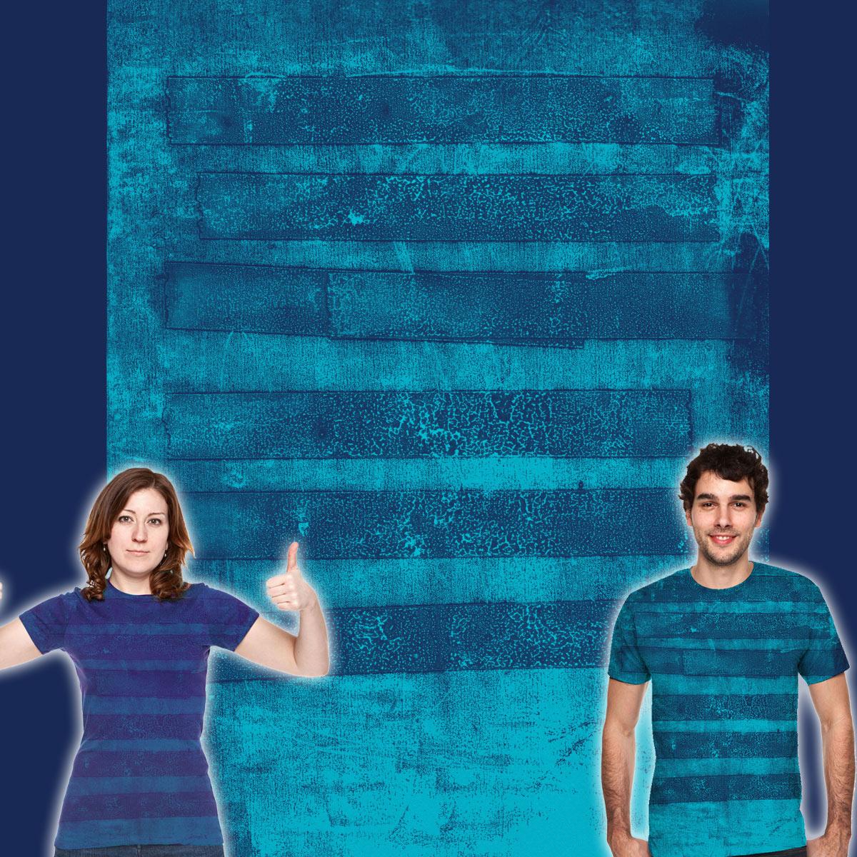 monoprint stripes by kharmazero on Threadless