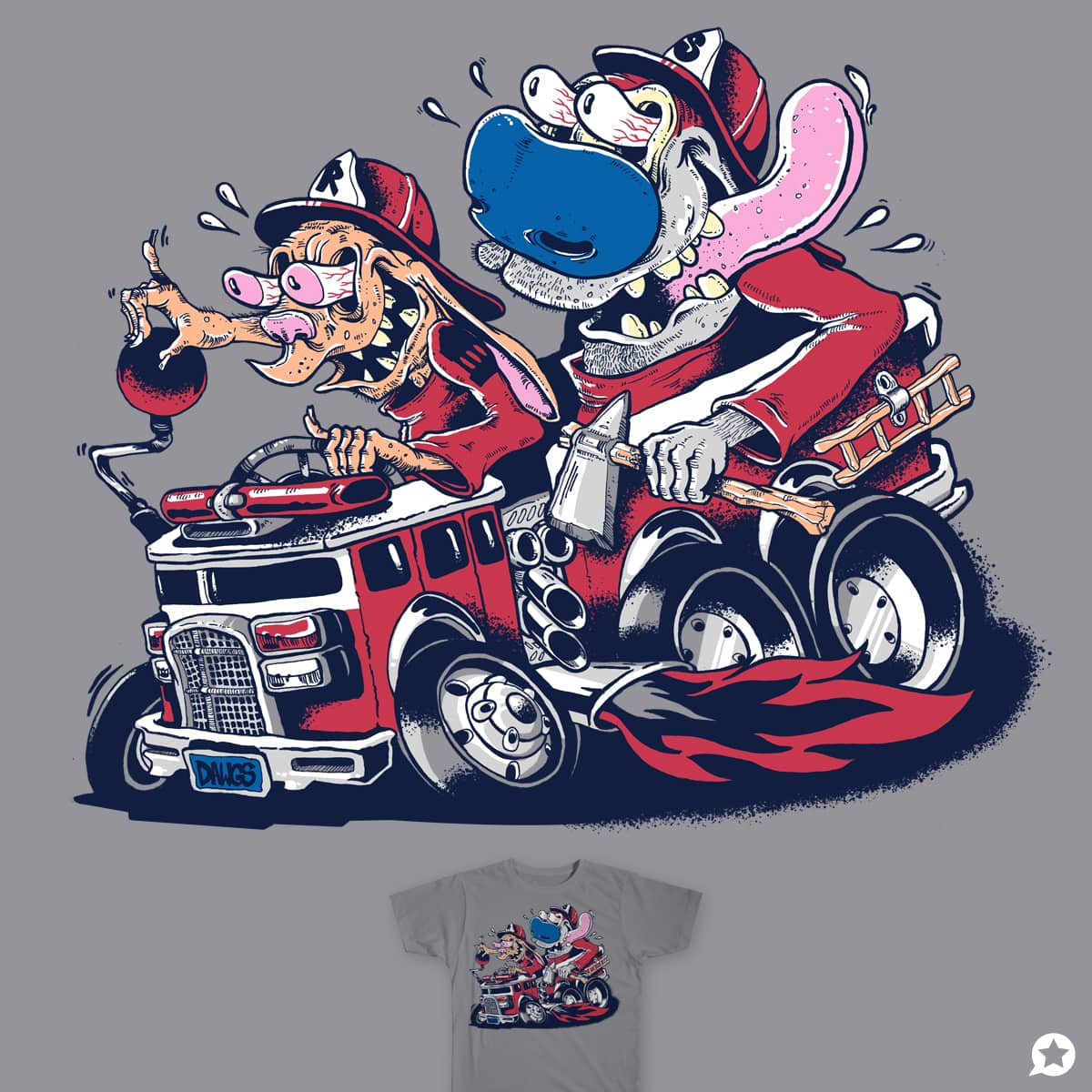fire dogs by dbolinski on Threadless