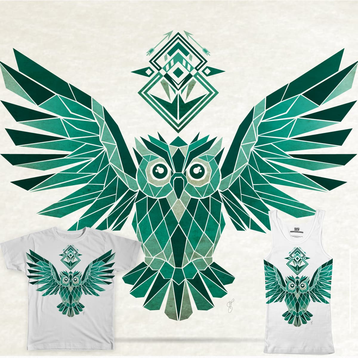 owl  by Manoou on Threadless