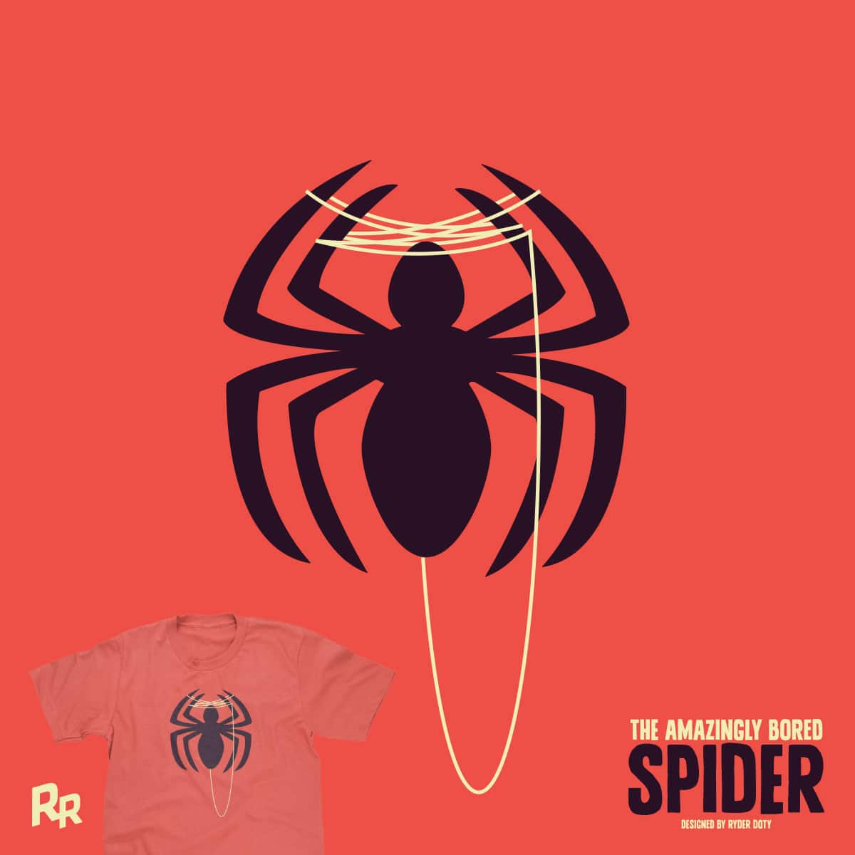 The Amazingly Bored Spider by Ryder on Threadless