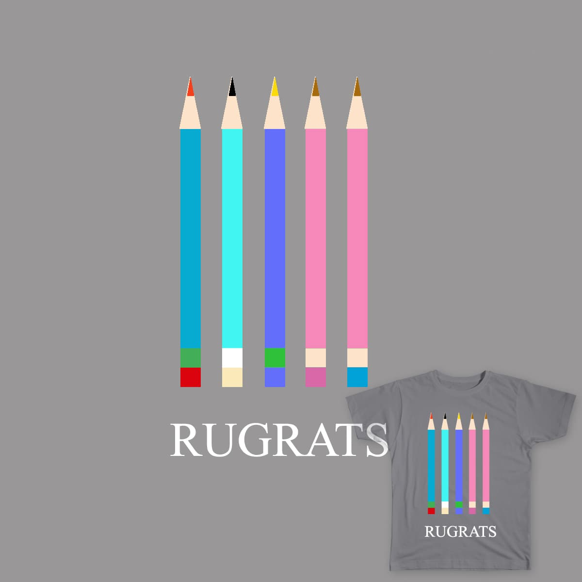 RUGRAT-PENCILS by nicoler20 on Threadless