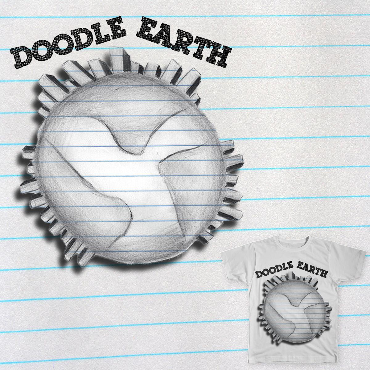 Doodle Earth by LittleDesignerStudios on Threadless