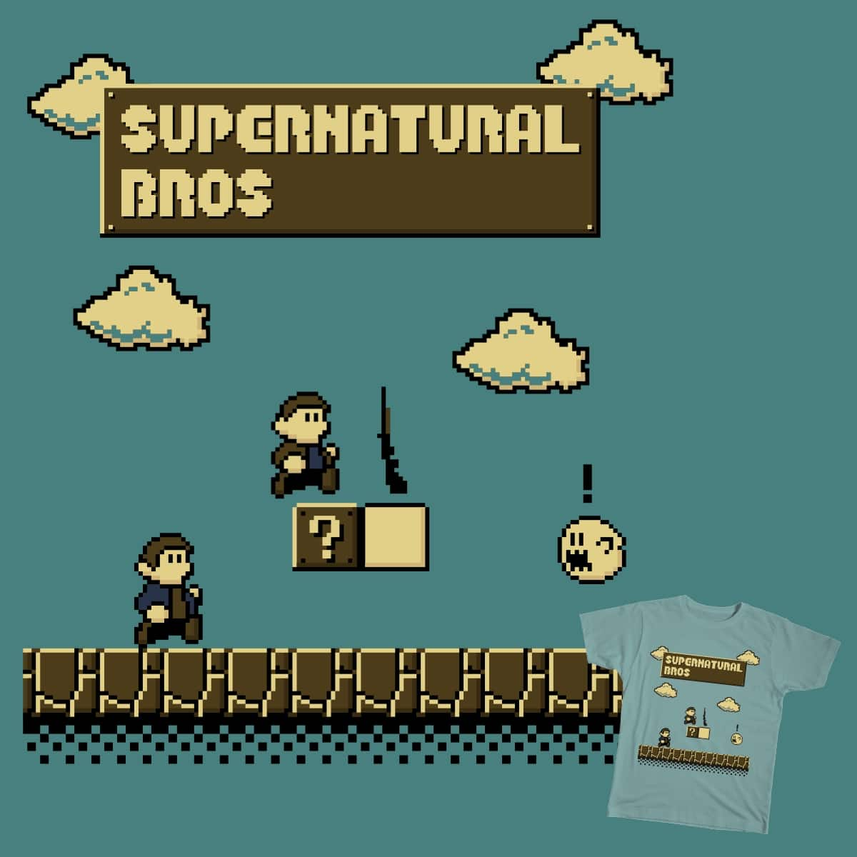 Supernatural Bros. by lee_byway on Threadless