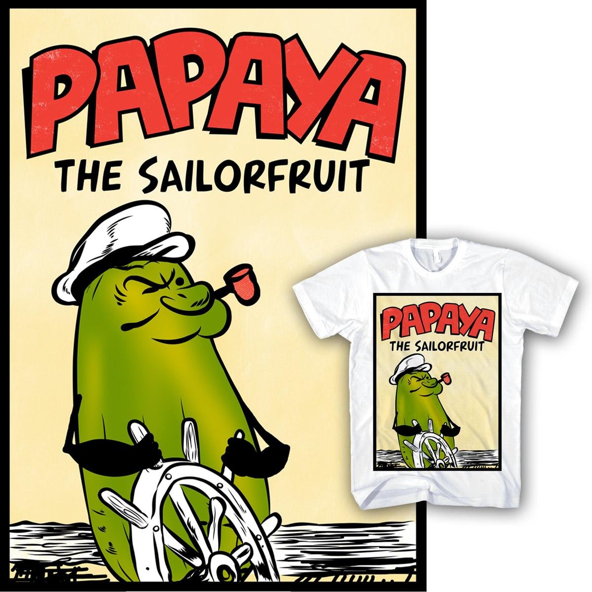 Papaya The Sailorfruit by mainial on Threadless