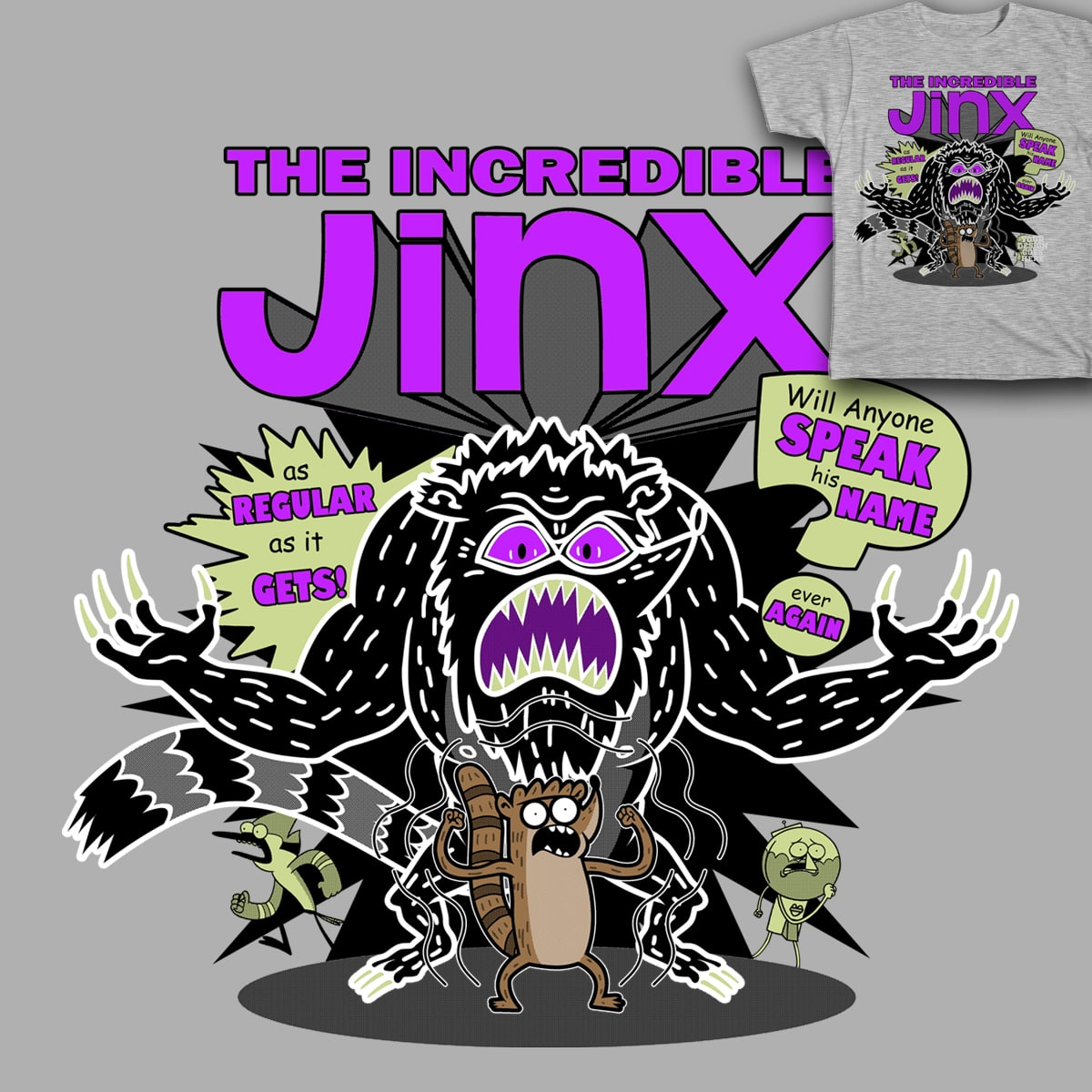 The Incredible Jinx by showershark on Threadless
