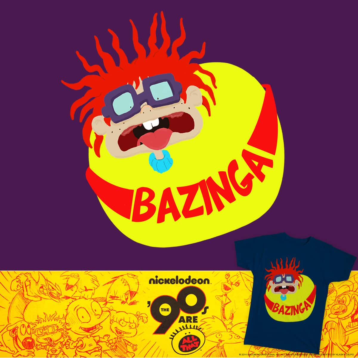 Chuckie Einsten's Pose and Bazinga by mickaelramom on Threadless