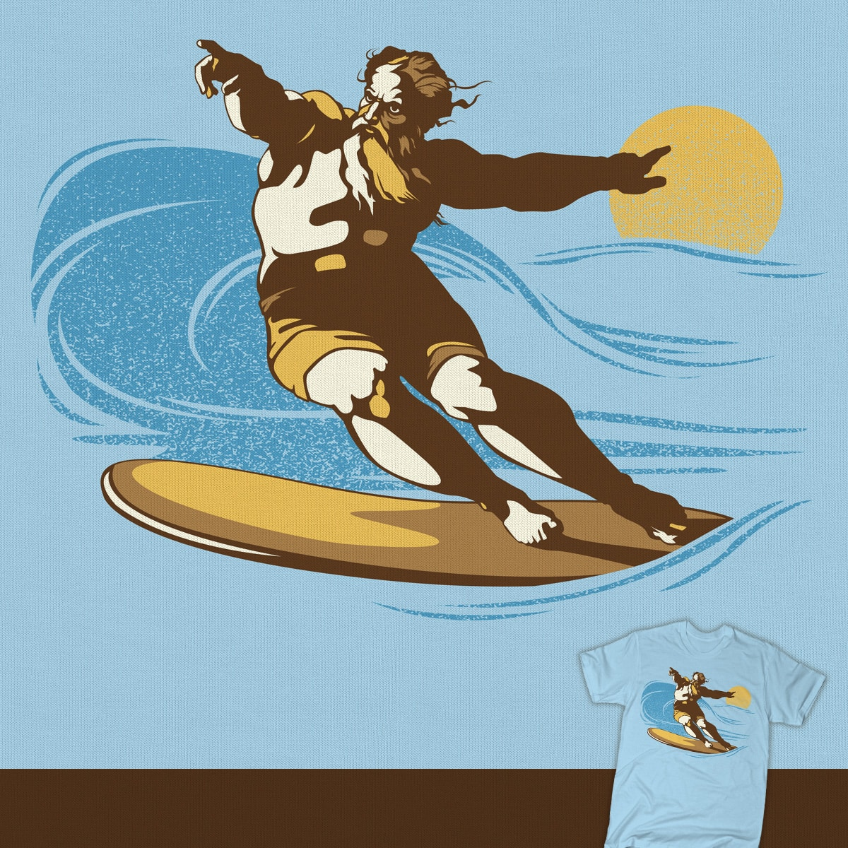 On The 8th Day, God Surfed by tomburns on Threadless