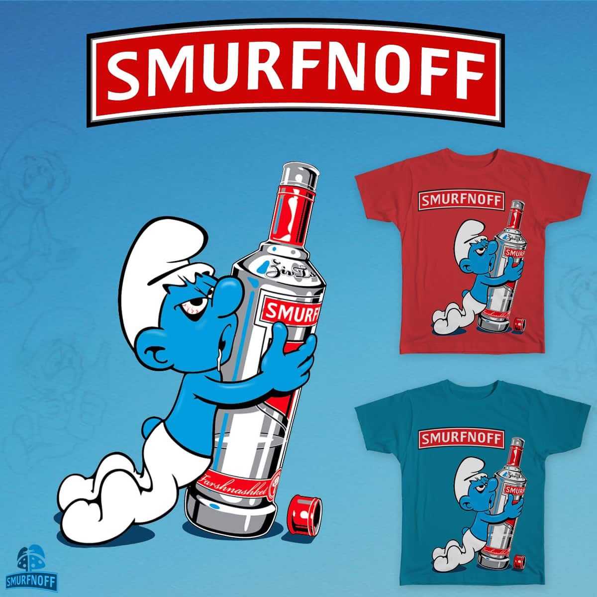 Smurfnoff by zivts on Threadless