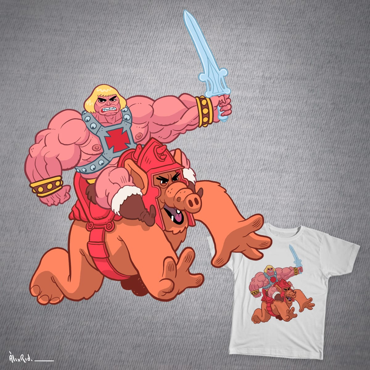 HE MAN & ALF  by Puchi_Po on Threadless