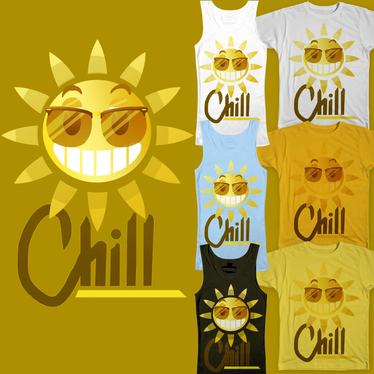 Chill, The Sun's Out by DrValentine on Threadless
