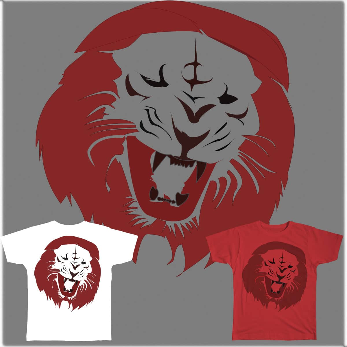 THE LION IN RED by Handzon_Artise on Threadless