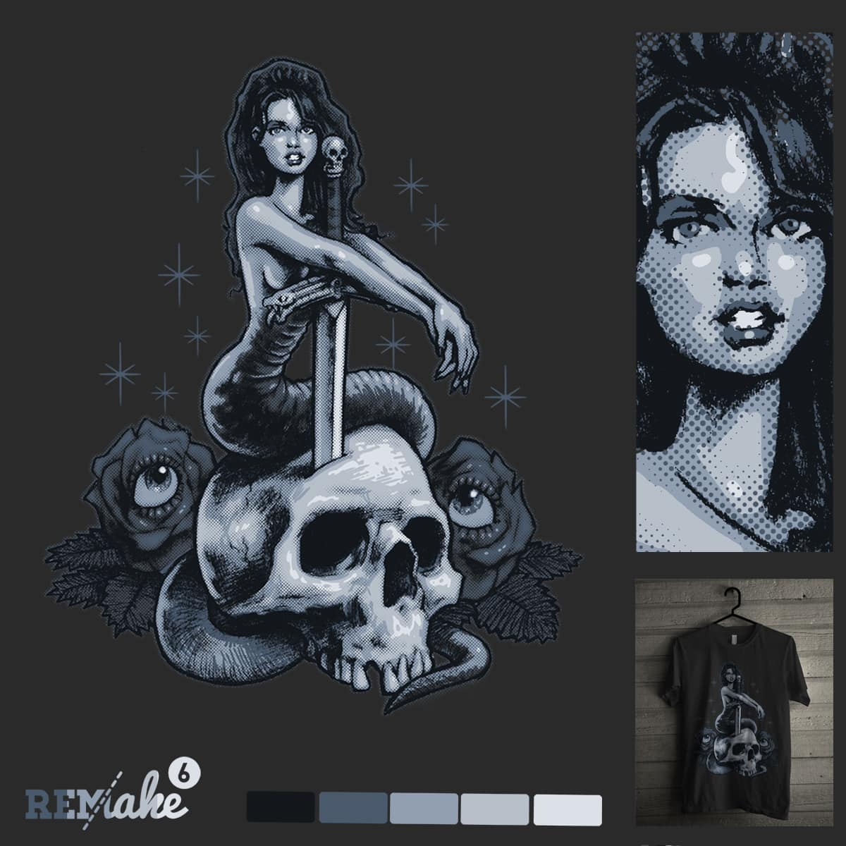 Snake Girl by Mr Rocks and sweet n sour on Threadless
