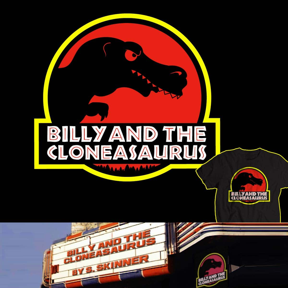 Billy and the Cloneasaurus by FRICKINAWESOME and Papaprime on Threadless