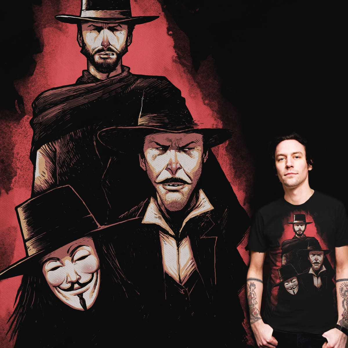 THE GOOD,THE BAD AND THE VENDETTA by ES427 on Threadless