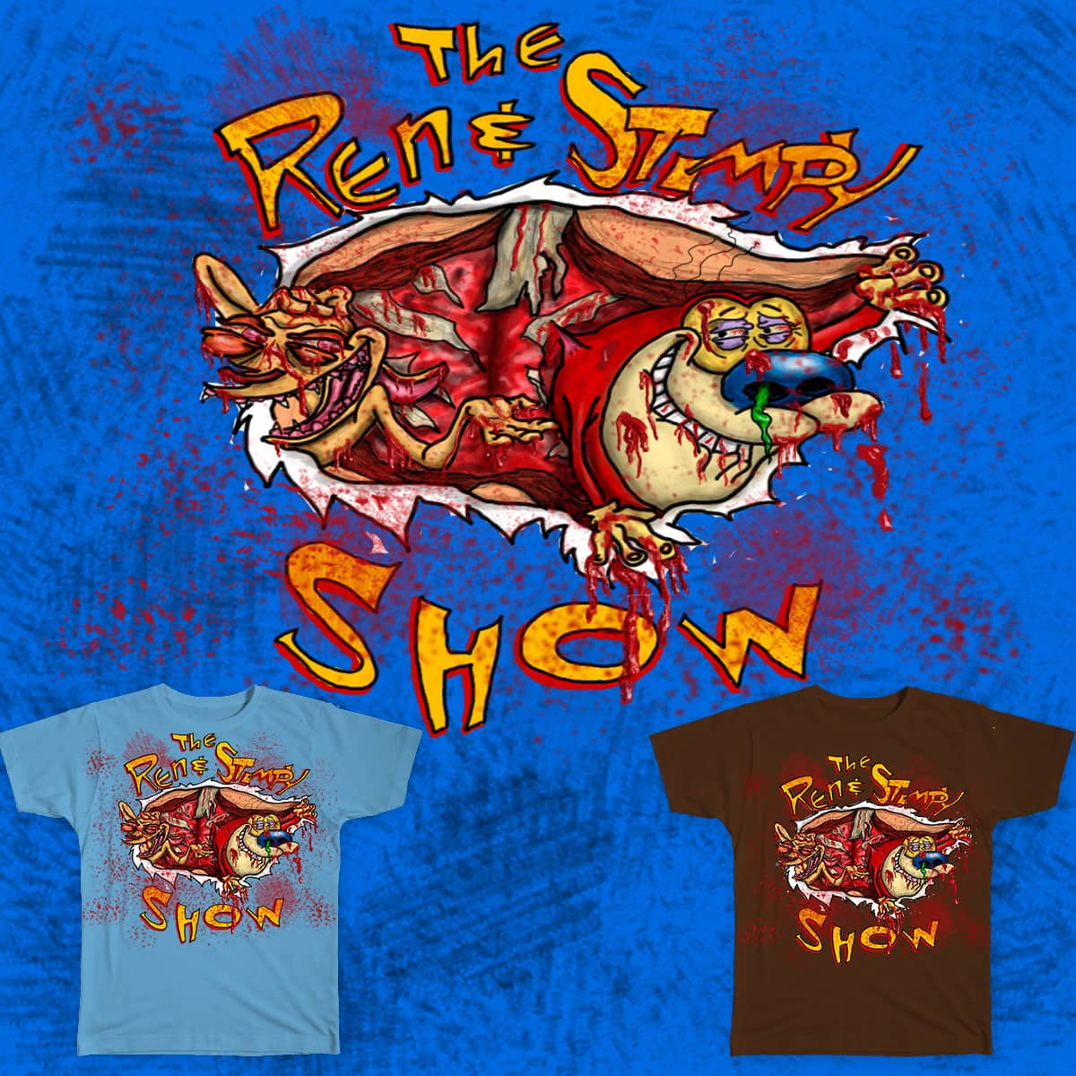 score the ren and stimpy show by migueldidit on threadless