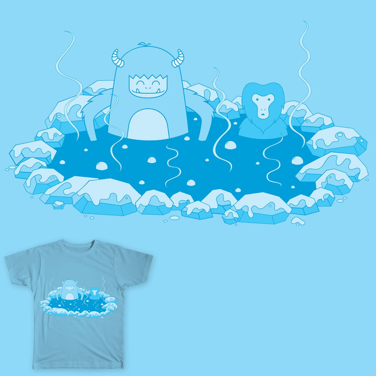 Abominable Hot Springs by kalmansor on Threadless