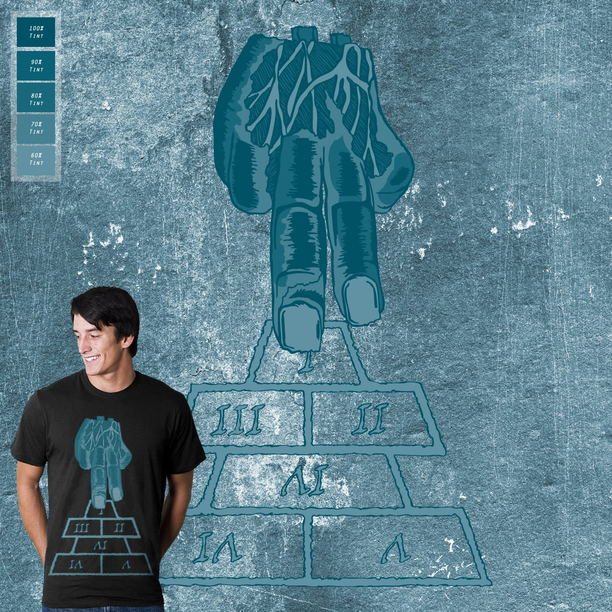 Hopscotch by Whipbot on Threadless