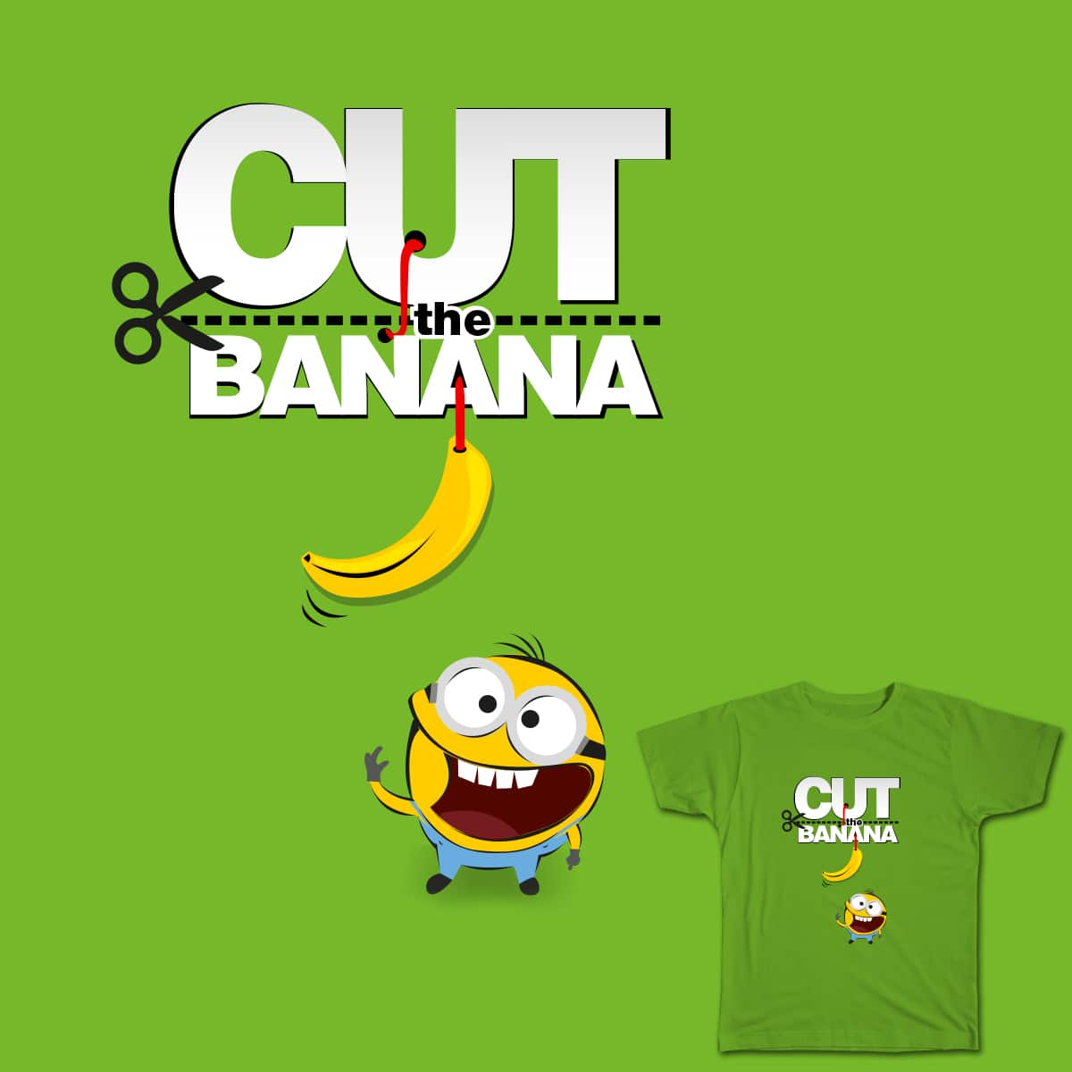 Cut-the-banana by sansanlee on Threadless