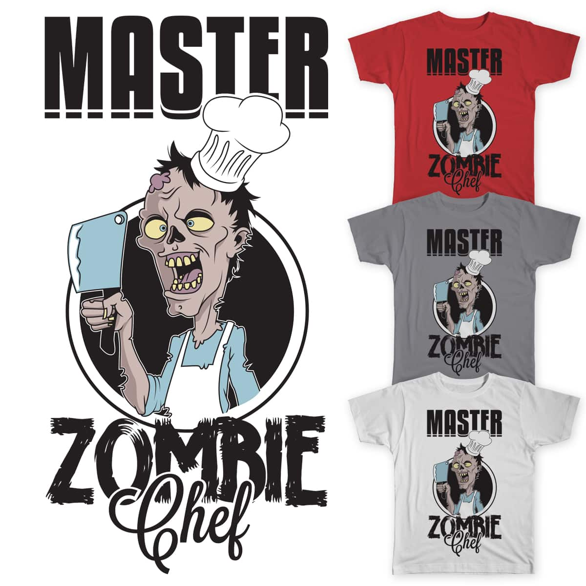 Master Zombie Chef by Quinto_C on Threadless