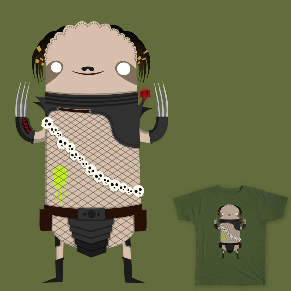 Predator Sloth by BakusPT on Threadless