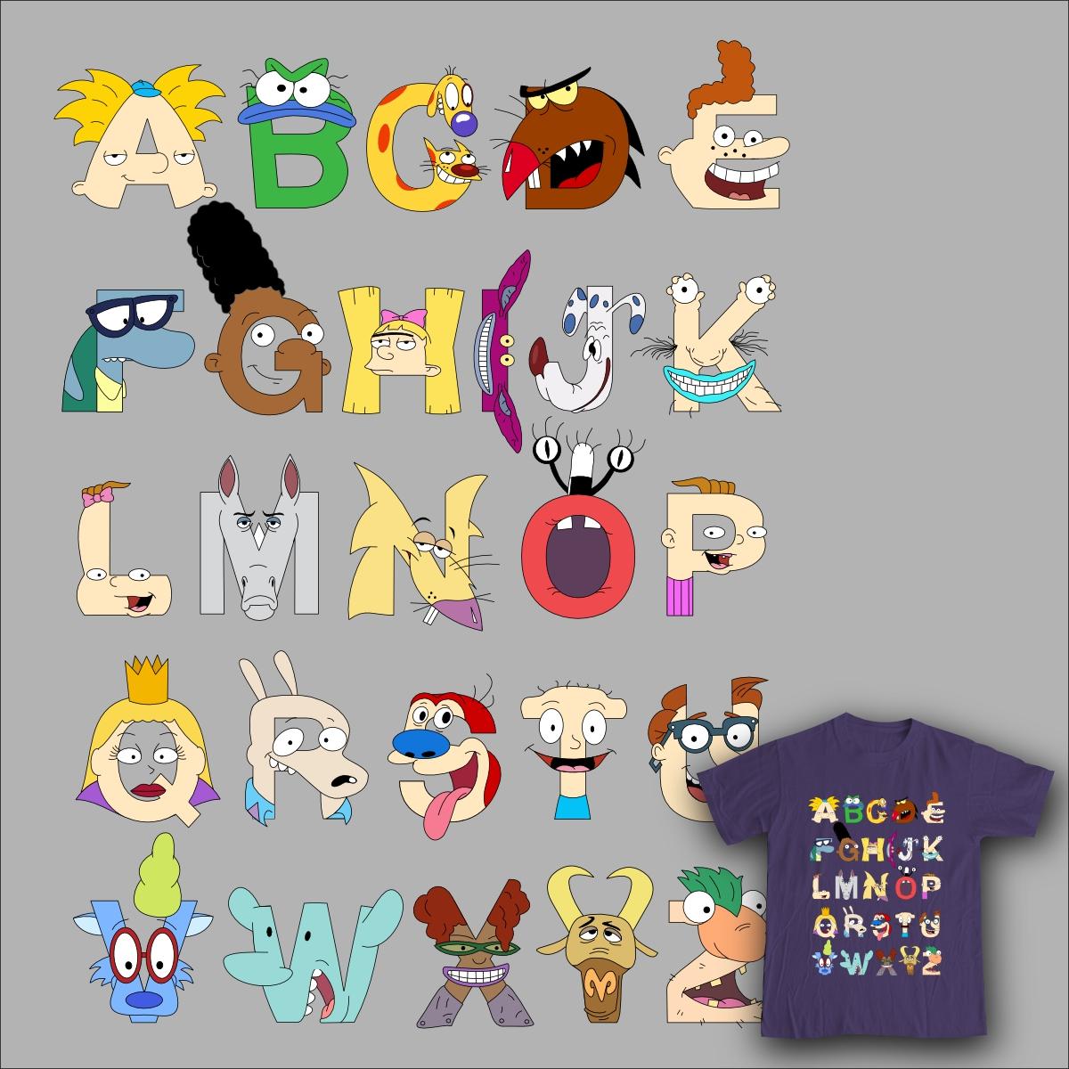 29408d17f010d Score Nickelodeon Alphabet by m baboon on Threadless