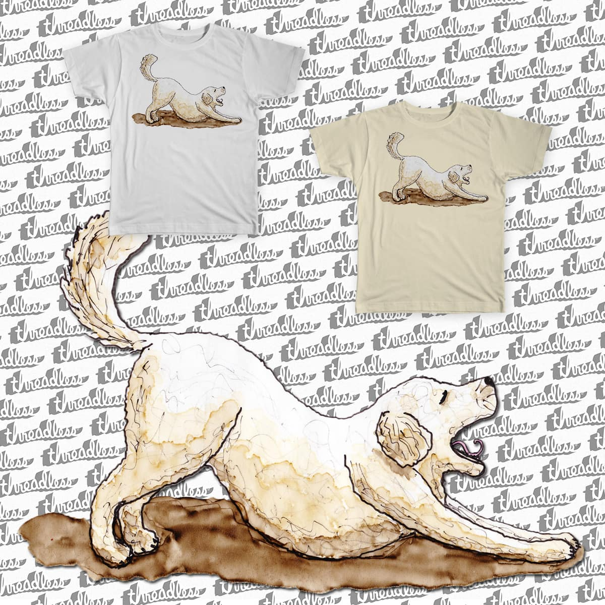 My Dog is into Yoga by nathanaelscheffler on Threadless