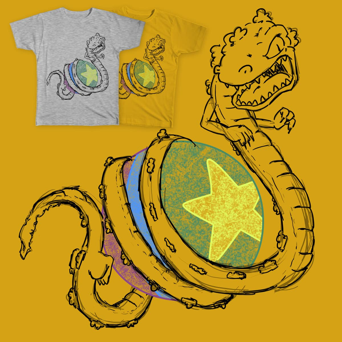 ReptarBall Z by DaemonCorps on Threadless