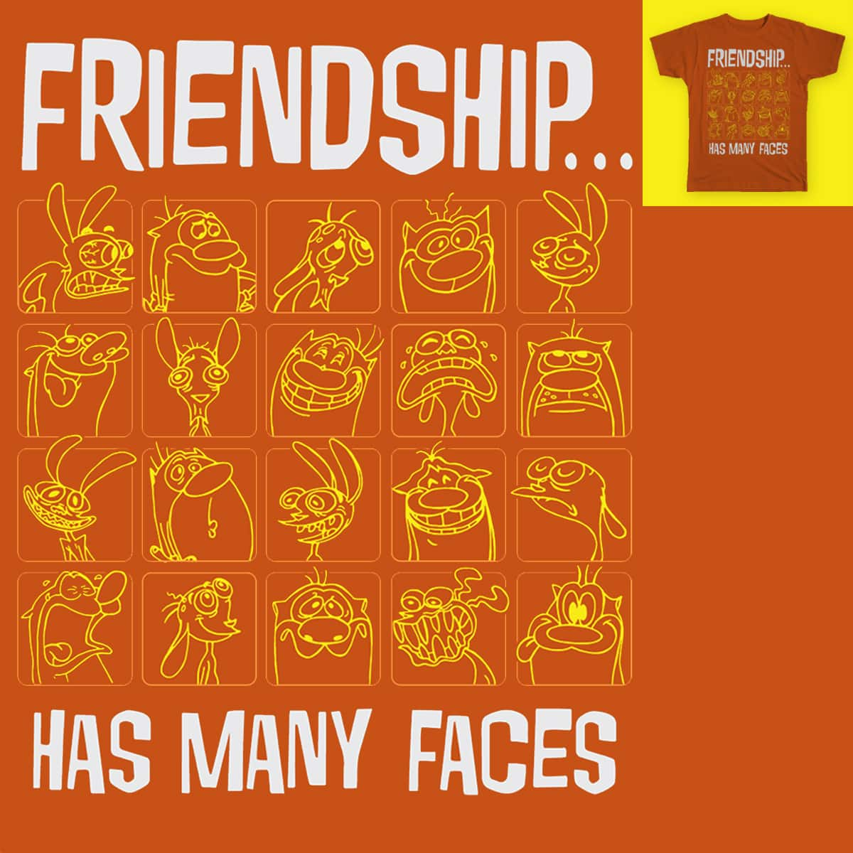 Friendship...has many faces by JAB4mx on Threadless