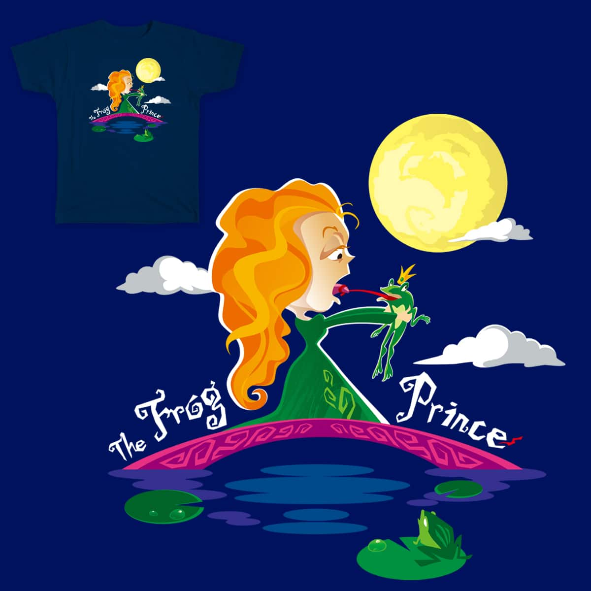 The Frog Prince by lovestar on Threadless