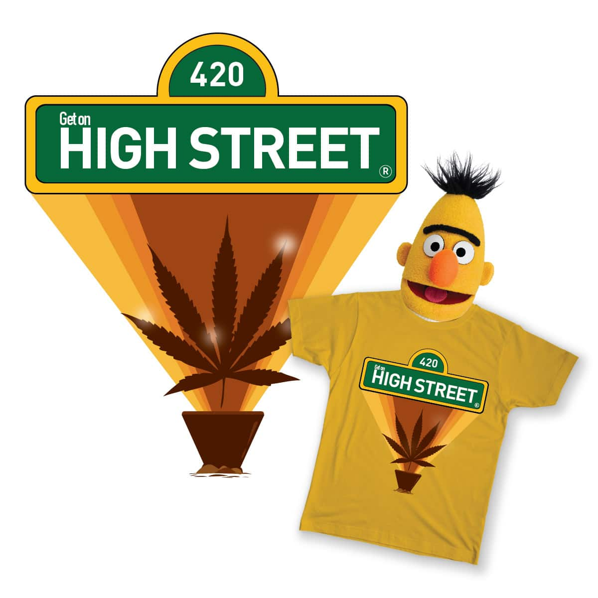 HIGH-STREET 420 PARODY by ctrlartdelete on Threadless