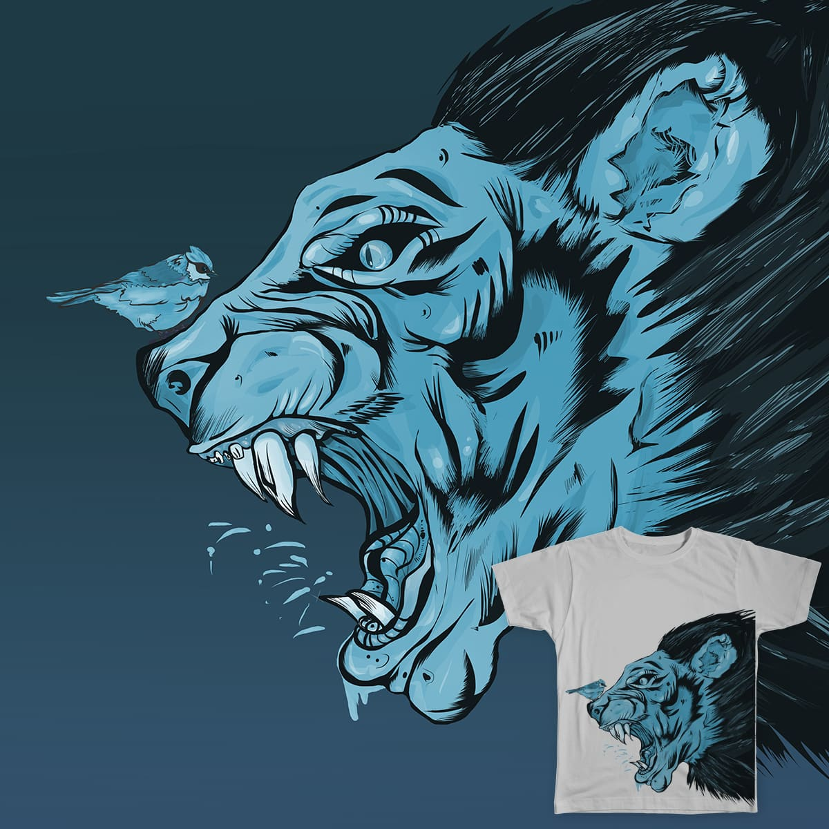 The beauty & the beast! by Verletti on Threadless