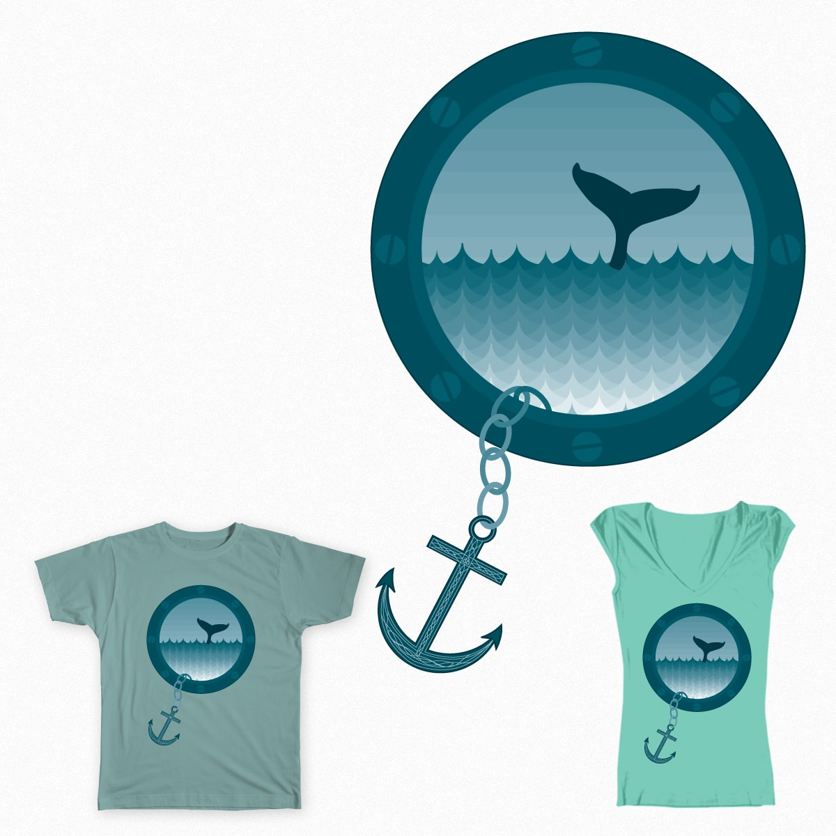 Out of the Sea  by gallifreygal on Threadless