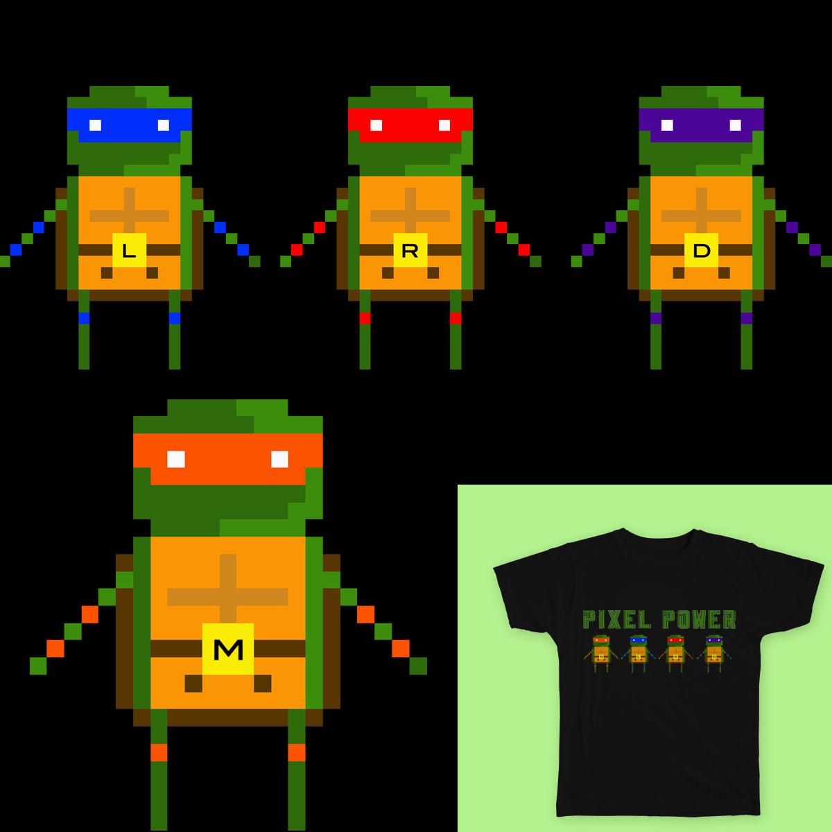 Pixel Power! by heycoffey on Threadless