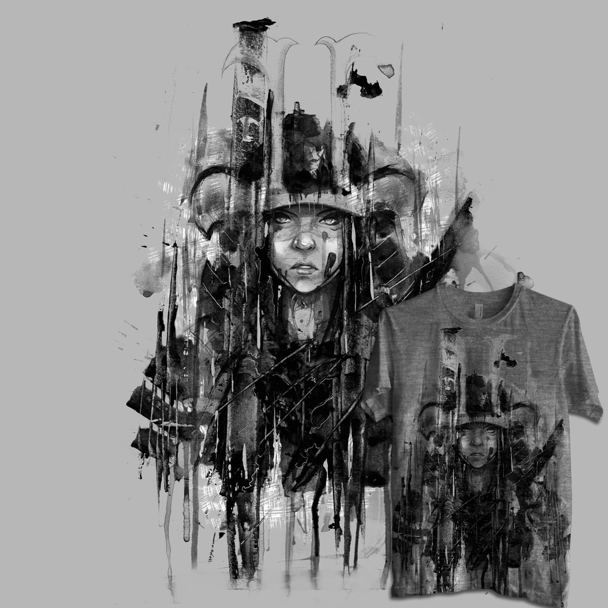 the samurai lady by iannocent on Threadless