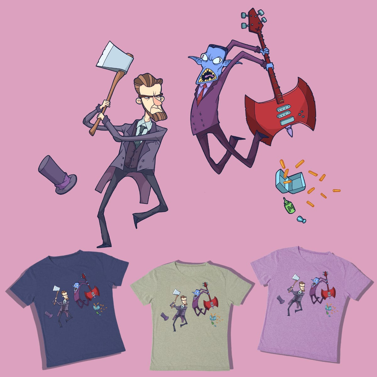 Abraham Lincoln Vs Hunson Abadeer by lost-angel-less on Threadless
