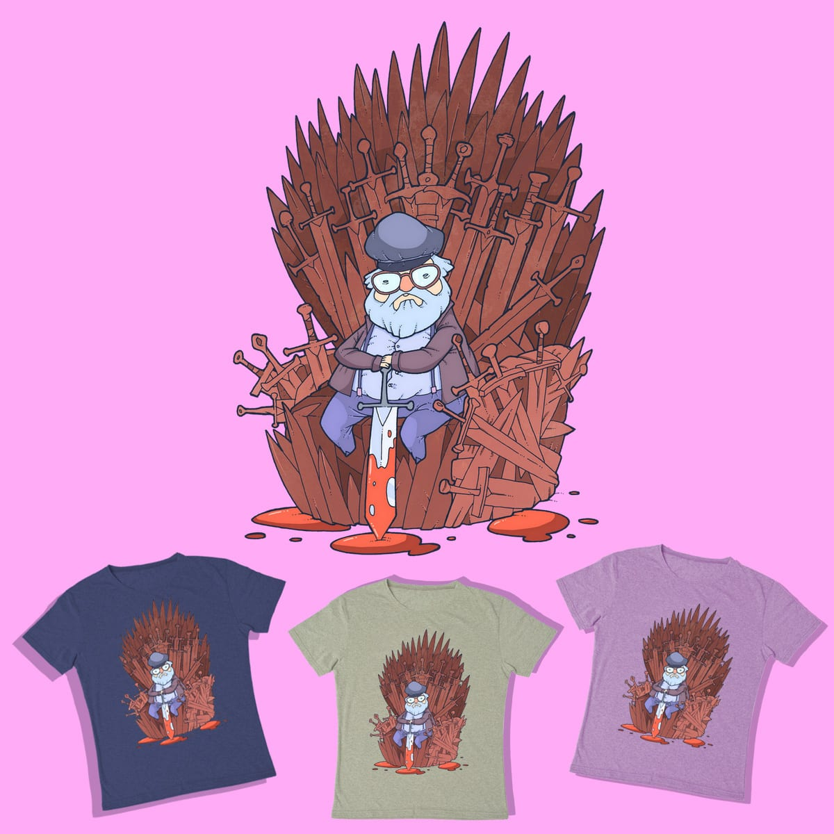 George R. R. Martin by lost-angel-less on Threadless
