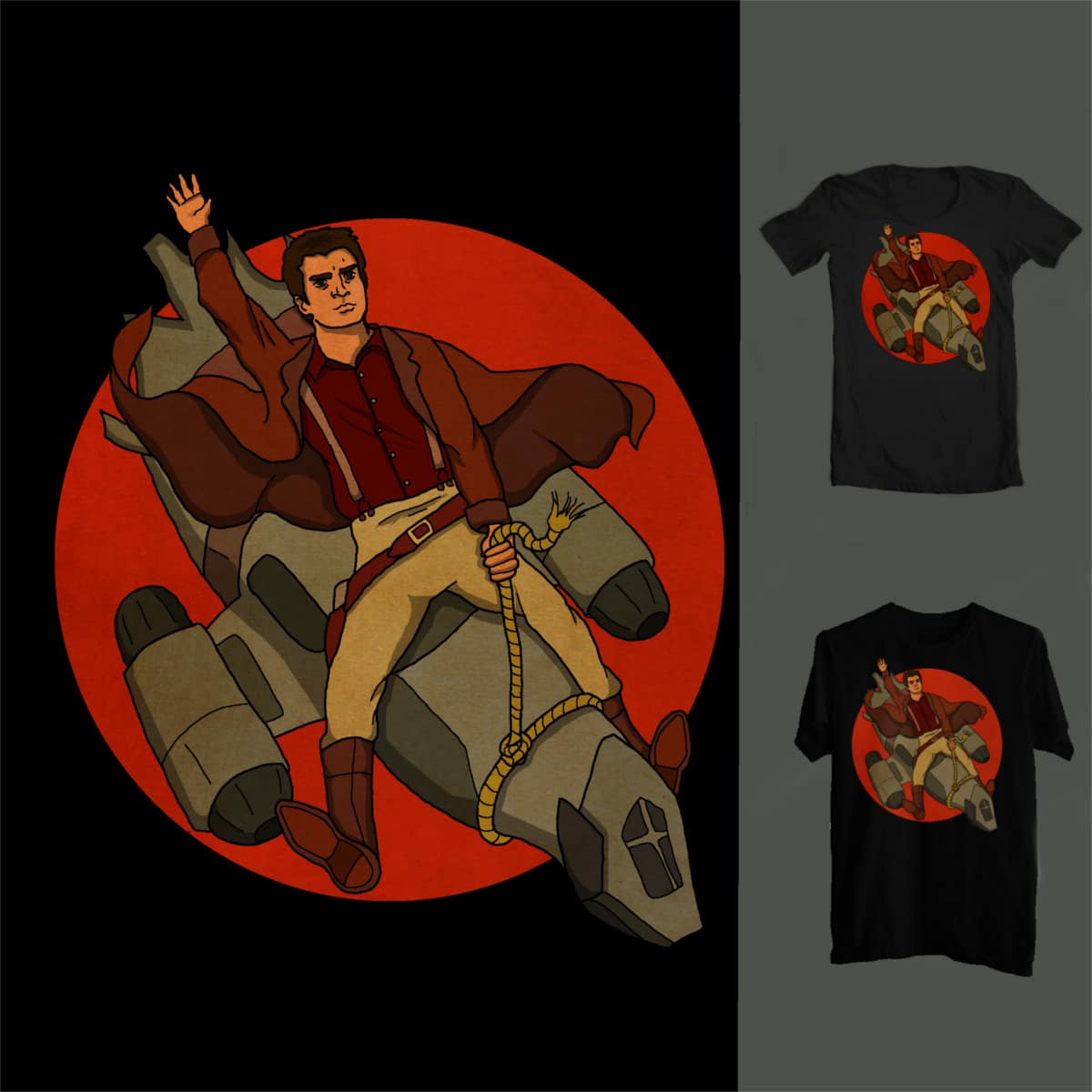 ... space cowboy? by linnfrasedisabled on Threadless